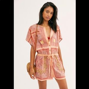 Intimately Free People All Day Printed Romper L